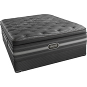 Beautyrest Black Natasha Pillow Top Low Profile Mattress Set