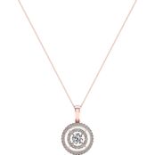 Magnificence 10K Rose Gold 1/4 CTW Inside/Outside Diamond Halo Pendant