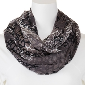Imperial Alligator Print Infinity Scarf