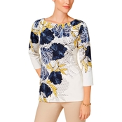 Charter Club Petite Floral Print Top