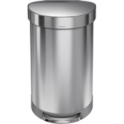 simplehuman 12 gal. Semi Round Step Can