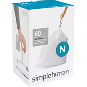 simplehuman Code N Custom Fit Liners 60 Count