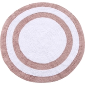 Saffron Fabs 36 In. Round Reversible Cotton Bath Rug