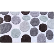 Saffron Fabs Stone Pattern 50 x 30 In. Cotton Bath Rug
