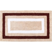Saffron Fabs Race Track Pattern 50 x 30 In. Reversible Cotton Bath Rug