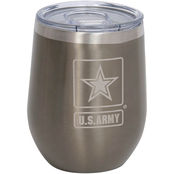 Pure Drinkware Military Logo Cup 22 GUNMETAL