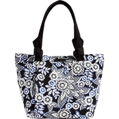 Vera Bradley Hadley East West Tote, Snow Lotus