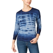 Style & Co. Petite Drop Shoulder Tie Dye Tee