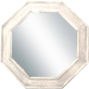 PTM Images White Octagonal Decorative Wall Mirror