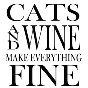 PTM Images Cats and Wine Make Everything Fine Decorative Plaque Wall Art