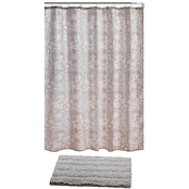 14 Pc. Rug and Shower-Curtain Set with Hooks
