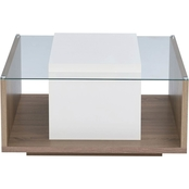 Furniture of America Valaro Two Tone Square Coffee Table