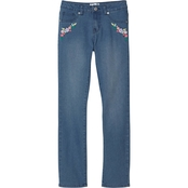 Ponytails Girls Embroidered Stretch Slim Jeans