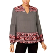 Style & Co. Mixed Print Top