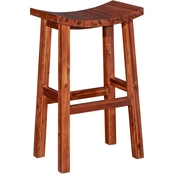 Powell Carmen Saddle Bar Stool