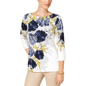 Charter Club Floral Print Top