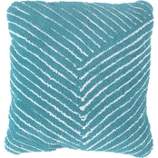 Lavish Home Modern Geometric Diagonal Stripe Accent Pillow Throw Pillow and Insert