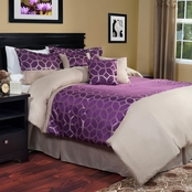 Lavish Home 7 Pc. Aria Comforter Set