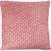 Lavish Home Modern Geometric Decorative Textured Diamond Throw Pillow and Insert