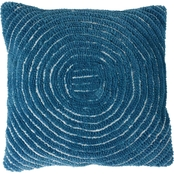 Lavis Home Modern Geometric Textured Concentric Ring Throw Pillow and Insert