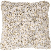 Lavish Home Modern Decorative Textured Ombre Loop Accent Throw Pillow and Insert