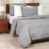 Lavish Home Solid Embossed 3 Pc. Quilt Set