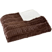 Lavish Home Fleece and Sherpa Blanket