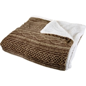 Lavish Home Flannel Sherpa Blanket