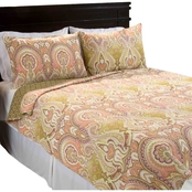 Lavish Home Ava Cotton Quilt Set