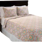 Lavish Home Emilia Reversible Quilt Set