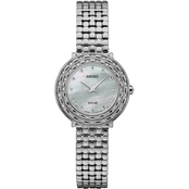 Seiko Women's Tressia Diamond Accent Solar Watch 29mm SUP37