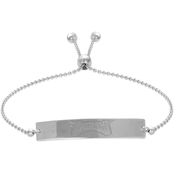 Sterling Silver NFL Philadelphia Eagles Adjustable Bar Bracelet