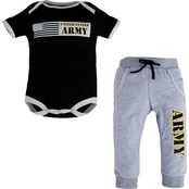 Trooper Clothing Infants Army Bodysuit and Jogger Pants 2 pc. Set