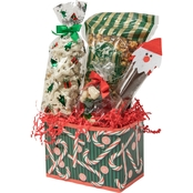 Naper Nuts & Sweets Candy Cane Basket With Treats