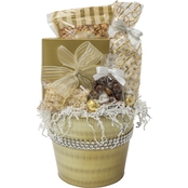 Naper Nuts & Sweets Diamond Gold Pail With Treats