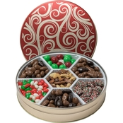 Naper Nuts & Sweets Golden Swirls Tin With Treats