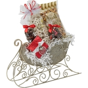 Naper Nuts & Sweets Silver Jester Sleigh With Treats