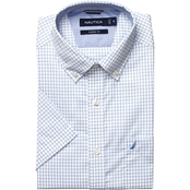 Nautica Classic Fit Wrinkle Resistant Windowpane Shirt