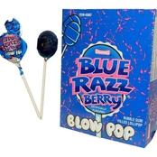 Charms Blow Pop, Blue Razzberry 48 Pk.