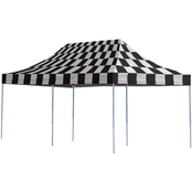 ShelterLogic Pop-Up Canopy HD Straight Leg 10 x 20 Ft. Checkered Flag