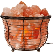 Himalayan Glow Natural Salt Basket Lamp