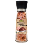 Himalayan Chef Pink Salt and Chipotle in Refillable Tall Glass Grinder