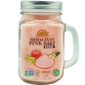 Himalayan Chef Fine Pink Salt in Mason Jar