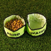 PETMAKER Collapsible Travel Pet Bowls