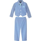 Happy Fella Toddler Boys 4 Pc. Special Occasion Dressy Vest Set