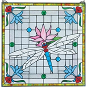 Design Toscano Dragonfly Pond Stained Glass Window