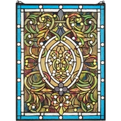 Design Toscano Beguiled in Blue Tiffany Style Stained Glass Window