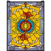 Design Toscano Gilded Age Tiffany Style Stained Glass Window