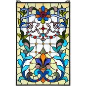 Design Toscano Bonifacio Tiffany Style Stained Glass Window