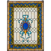 Design Toscano Cranbrook Terrace Tiffany Style Stained Glass Window